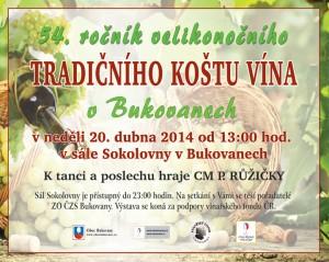 Košt vína Bukovany 2014