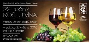 košt vína 2015, areál vinných sklepů Skalák