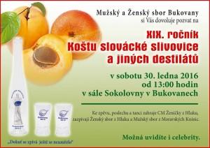 XIX. ročník koštu slovácké slivovice a jiných destilátů - Bukovany 2016
